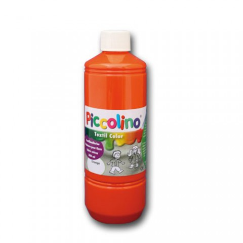 Textilfarbe orange 500ml - Stoffmalfarbe PICCOLINO Textil Color