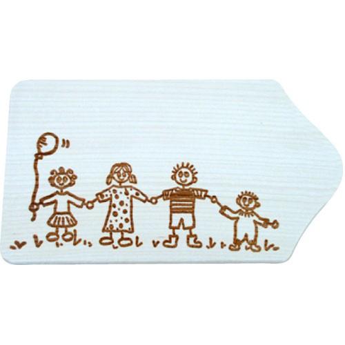 fr hst cksbrettchen holz mit gravur motiv familie zum. Black Bedroom Furniture Sets. Home Design Ideas