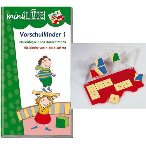 Minilu00fck Mini Lu00fck - u00dcbungen fu00fcr Vorschulkinder Heft 1 und 2 inkl. miniLu00fck-Lu00f6sungsgeru00e4t Medien ...