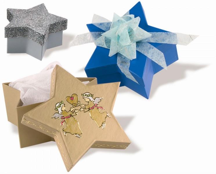 geschenkboxen stern farbig aus pappe zum basteln und gestalten 6 st ck basteln malen werken. Black Bedroom Furniture Sets. Home Design Ideas