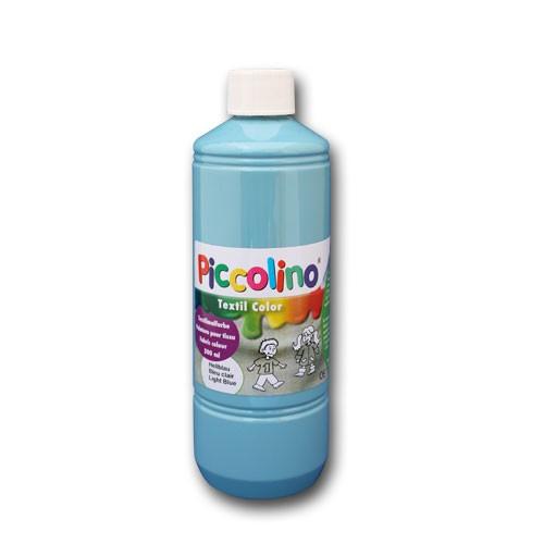 Encre textile peinture pour textile bleu clair 500ml piccolino textile couleur peinture - Peinture bleu clair ...