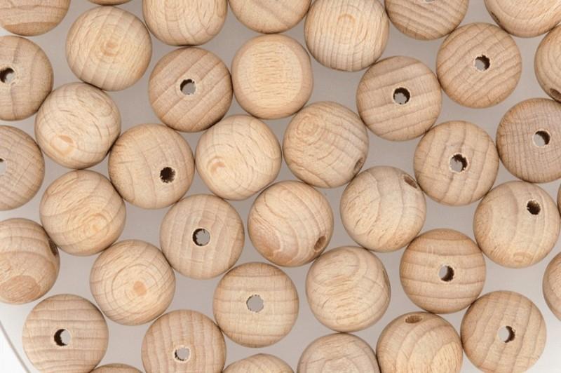 1000 holzperlen natur holzkugeln 20mm mit bohrung gro packung roh holzkugeln durchbohrt. Black Bedroom Furniture Sets. Home Design Ideas