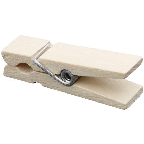 100 mini pinces linge en bois naturel 45mm de long